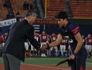 2つのフィールドゴールを決めMIPを受賞したK廣田