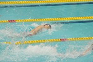 100m自由形で優勝した木村