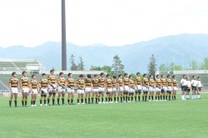 明大との招待試合が山梨県で開催された