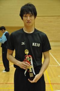 ベストスコアラー賞を獲得した柳田