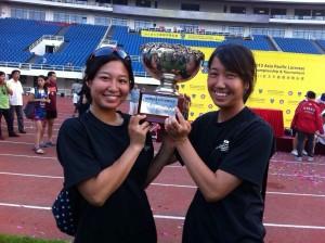 大会3連覇を果たした、細田(左)と廣野(右)
