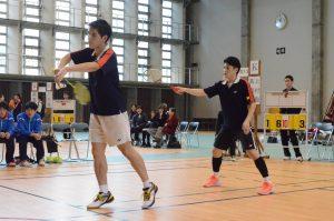 リベンジは果たせなかった上村(左)・高嶋(右)ペア