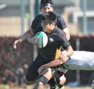 ゲームキャプテンとしてチームを率いた岩本