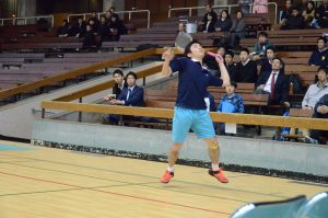 松井はダブルスに続き、シングルスも勝利した