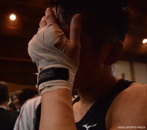 試合後は感極まり男泣きを見せた徳山