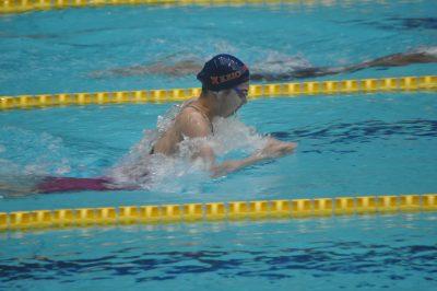 高﨑は200m平泳ぎで3位を獲得した