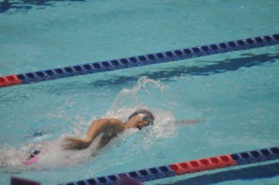 800mフリーリレーで第一泳者を務めた村川