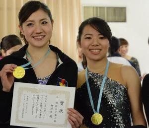 表彰を受ける柳澤と鈴木
