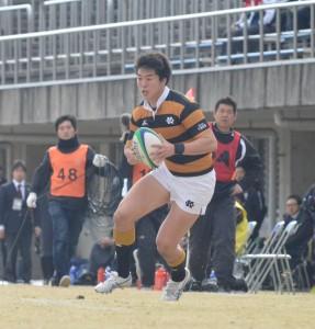 下川は久しぶりのスタメン出場で2トライ