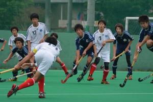 田中の打ち込みに反応する選手たち