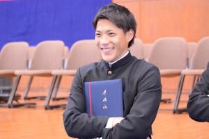 山縣は3月23日慶大を卒業した