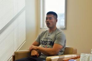山田章仁選手(2015年11月撮影)