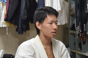 高校では剣道に打ち込んでいたという田中