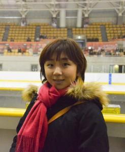 スケート仲間の応援に来ていた高橋選手