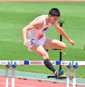 400mHで3位入賞を果たした松本