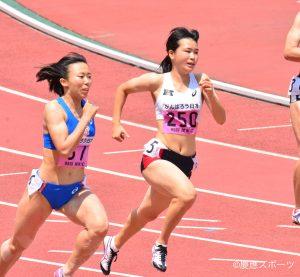 4位入賞を果たした竹内(写真は翌々日の200m準決勝)