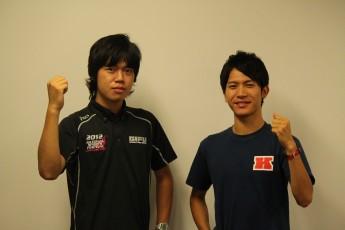 齋藤パートチーフ(左)と福島選手(右)