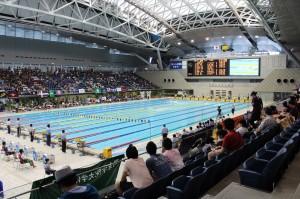 会場の横浜国際プール