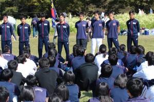 試合後には来季に向けたのミーティングが行われた。