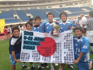 アジアチャンピオンに輝き喜ぶ、U-22日本代表慶大勢6選手
