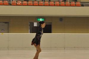 演技後、柳澤はほっとした表情を見せた